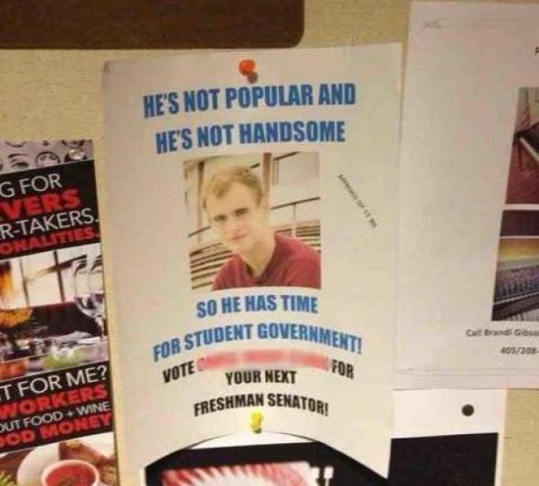 Nie jest popularni ani przystojny - oddałbyś na niego swój głos?