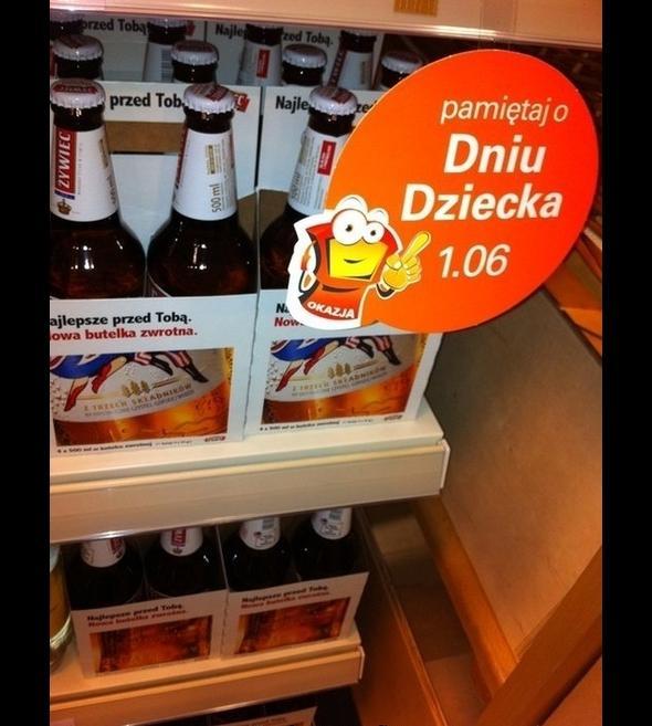 Pamiętaj o dniu dziecka i zamiast piwa kup lizaka!