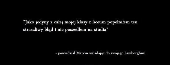 Maciek wiedział