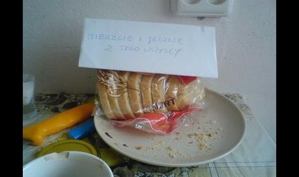 Wyjątek od reguły - student dzielący się jedzeniem