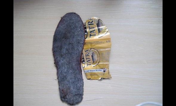 Zabrakło puszki, trzeba iść po nowy materiał na wkładkę do buta
