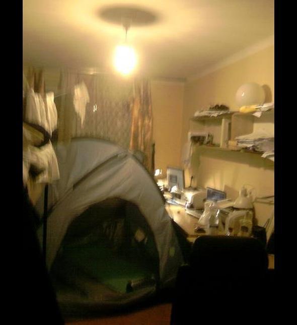 Przygotowania do letnich wypadów pod namiot wyglądają tak: