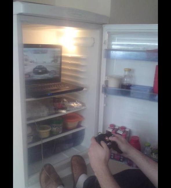 Otwieram lodówke a tam….