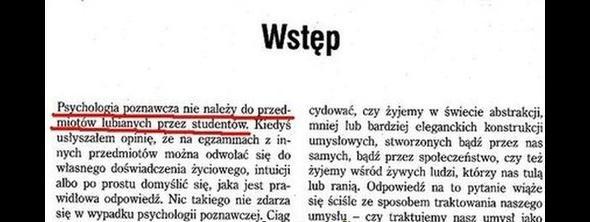 Autor sam kiedyś był studentem…