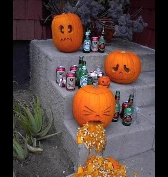 Po imprezie z okazji Halloween