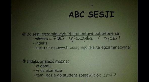 ABC sesji drobna korekta