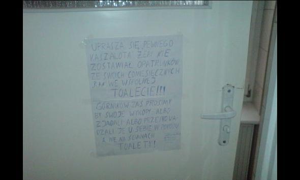 Zasady korzystania ze wspólnej toalety po prostu muszą być jasne - dla wszystkich!