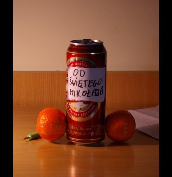 Piwo + mandarynki = prezent świąteczny dla studenta