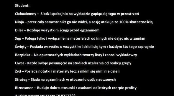 Typy studenta