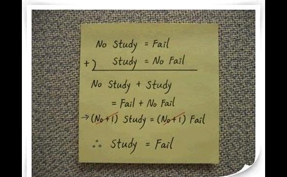 Study/no study jeden fail
