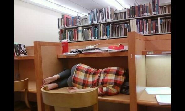 Z serii: student spać może wszędzie