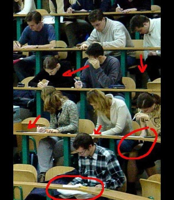 Ściąganie na egzaminie okiem Jacka Gmocha