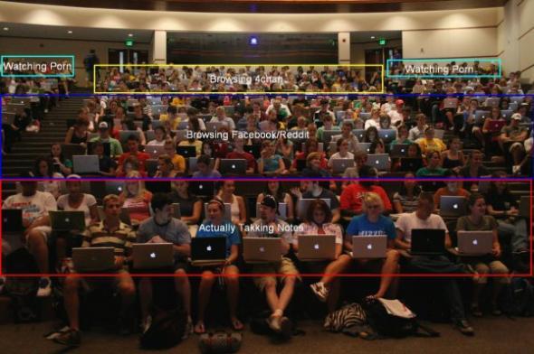 A Ty gdzie zawsze siedziałeś na wykładach?