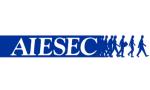 Logo AIESEC przy Uniwersytecie Łódzkim