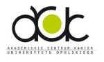 Logo Akademickie Centrum Karier Uniwersytet Opolski
