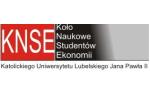 Logo Koło Naukowe Studentów Ekonomii Katolickiego Uniwersytetu Lubelskiego Jana Pawła II