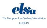 Logo Europejskie Stowarzyszenie Studentów Prawa ELSA