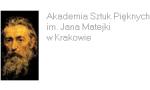 Logo Akademia Sztuk Pięknych im. J. Matejki w Krakowie
