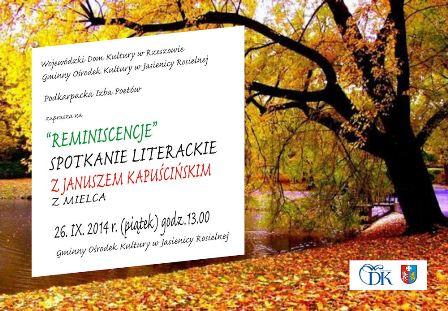 Spotkanie literackie z Januszem Kapuścińskim