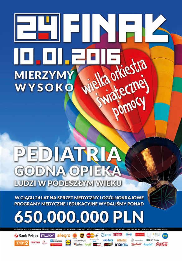 24. Finał WOŚP 2016 w Kielcach - program