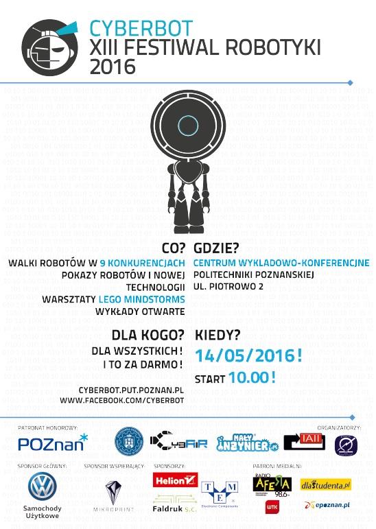 XIII Festiwal Robotyki Cyberbot - przyjdź na spotkanie z najnowszymi technologiami!