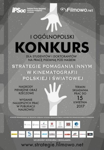 """Konkurs  """"Strategie pomagania innym w kinematografii polskiej i światowej"""""""