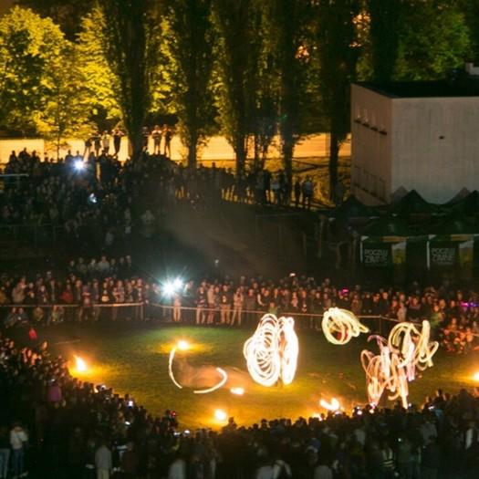 Juwenalia Olsztyńskie Kortowiada 2017: Pokaz tańca z ogniem