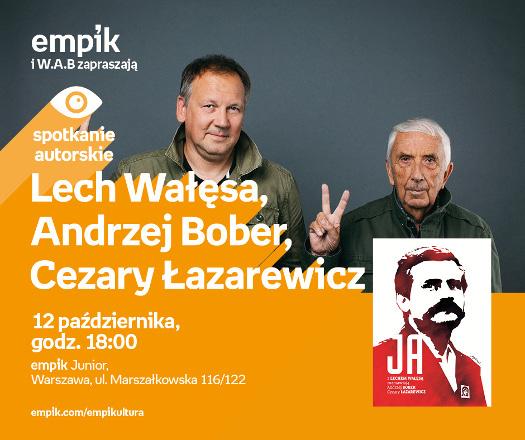 Lech Wałęsa w rozmowie z Cezarym Łazarewiczem i Andrzejem Boberem