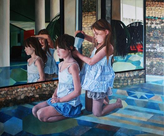 120 cm - wystawa malarstwa młodych malarek