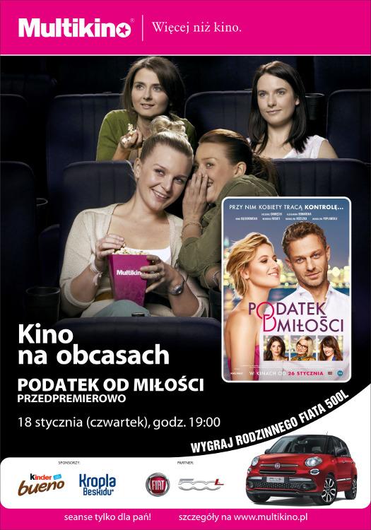 Kino na Obcasach: Podatek od miłości - pokaz przedpremierowy