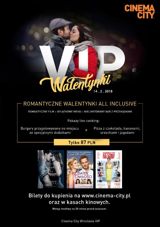 Walentynki all inclusive w strefie VIP w Cinema City Wroclavia