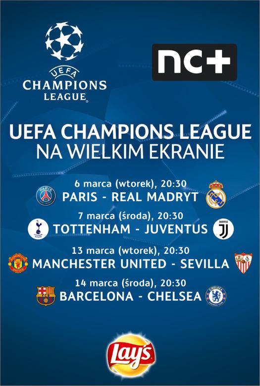 Mecze 1/8 Ligi Mistrzów w Multikinie