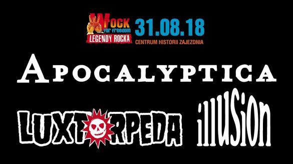 wROCK for Freedom 2018: Apocalyptica, Luxtorpeda i Illusion