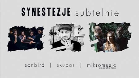 Festiwal Synestezje. Subtelnie. SKUBAS, MIKROMUSIC TRIO, SONBIRD