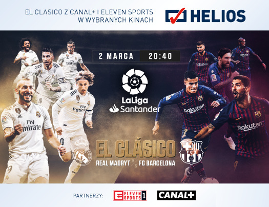 El Clásico: Real Madryt vs FC Barcelona w Heliosie