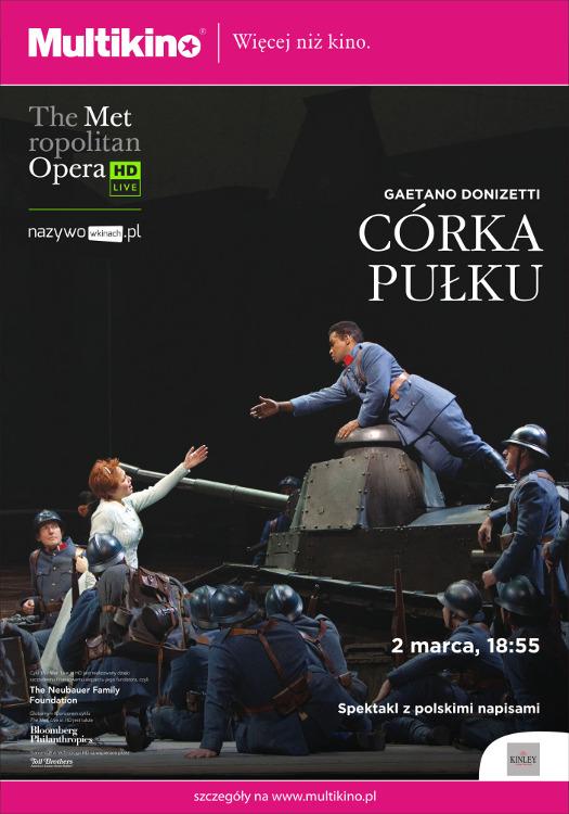 The Met Live in HD w Multikinie: Córki Pułku