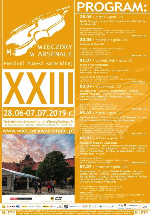 23. Festiwal Muzyki Kameralnej Wieczory w Arsenale