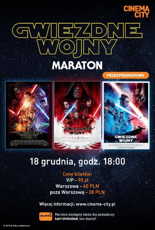Maraton Gwiezdnych Wojen w Cinema City