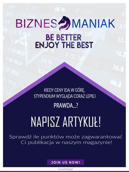 """Zbieranie tekstów do 1. wydania czasopisma """"Biznesmaniak"""""""