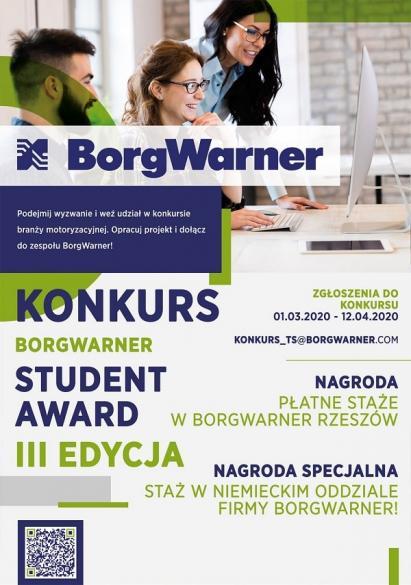 BorgWarner Student Award III - zapisy na konkurs