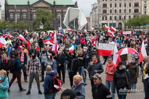 Protest przeciwko majowym wyborom prezydenckim