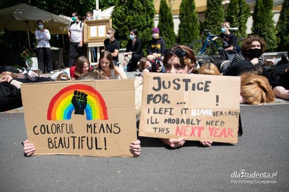 Protest Black Lives Matter przed ambasadą USA