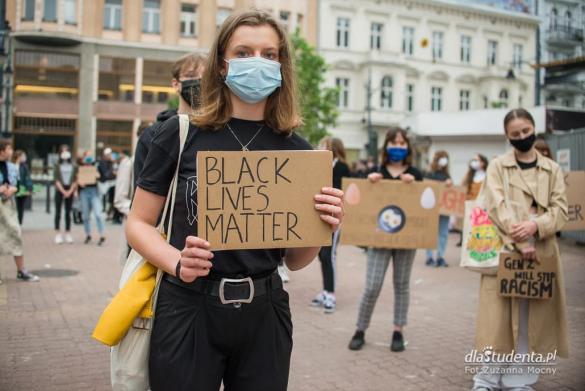 Protest Black Lives Matter w Łodzi