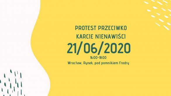 """Protest przeciwko """"Karcie Nienawiści"""" we Wrocławiu"""
