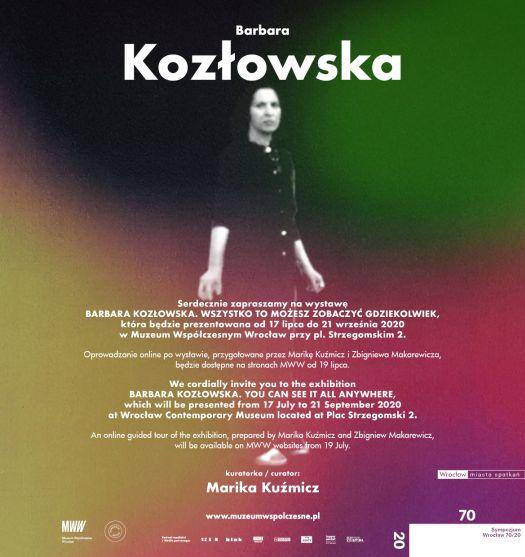 Wystawa: Barbara Kozłowska. Wszytsko to możesz zobaczyć gdziekolwiek.