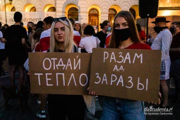Wolność dla Białorusi - demonstracja w Warszawie