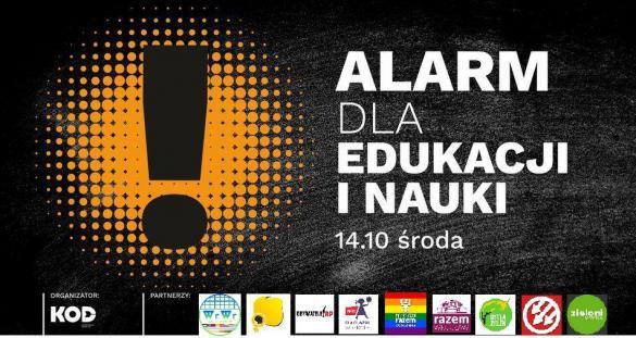 Alarm dla edukacji i nauki - manifa we Wrocławiu