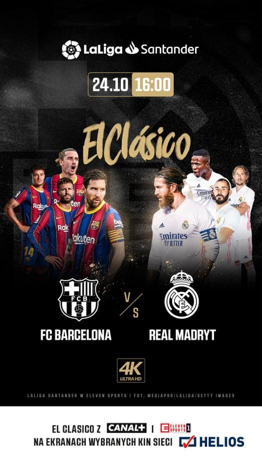 Real Madryt - FC Barcelona - mecz na ekranach kin Helios
