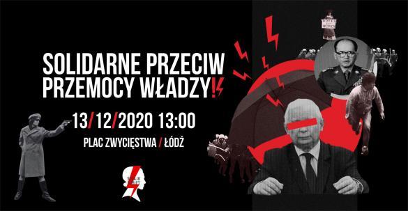 Strajk Kobiet: Solidarne przeciw przemocy władzy - manifestacja w Łodzi