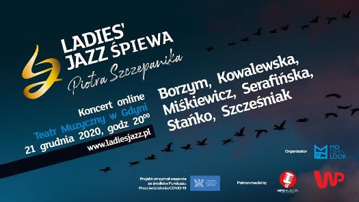 Koncert online Ladies' Jazz śpiewa Piotra Szczepanika